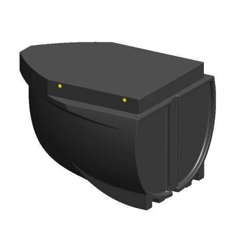 PT06 för. Pontonbygge för bryggbåt, husbåt mm. Flytpontoner, blockponton, polyetenponton