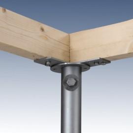 K1 Hörnkonsol för horisontell montering