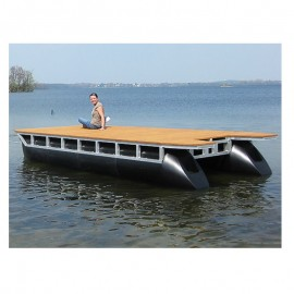Bryggbåt katamaran pontonbåt