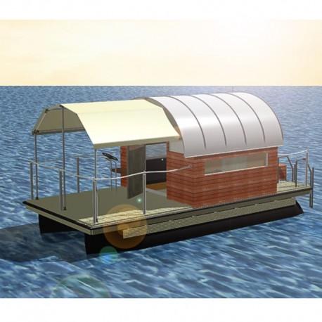 102 mobil pontonhusbåt katamaran