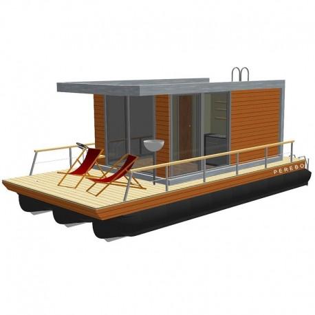 201 mobil pontonhusbåt katamaran