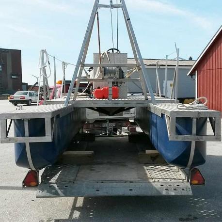 AD-pontoner bryggbåt, pontonbåt, bastuflotte, bojeka mm.