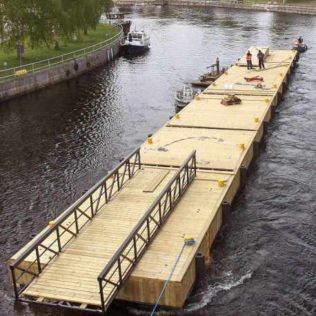 Steel, Rti Ø914 Stålpontonbrygga