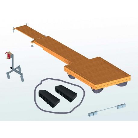 Rektangulära pontoner