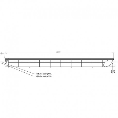 Saunaraft 4x12,4m bastupontoner