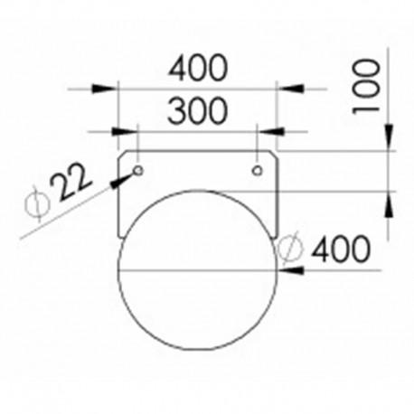 Rörponton 400mmx9500mm