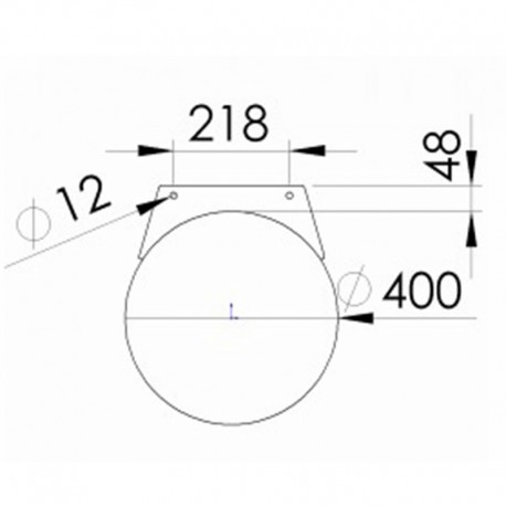 Rörponton 400mmx1500mm