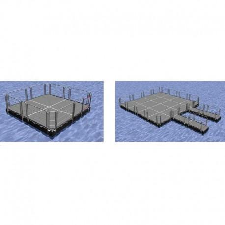 Blockponton arbetsflotte flytande arbetsponton