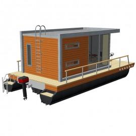 201 mobil pontonhusbåt